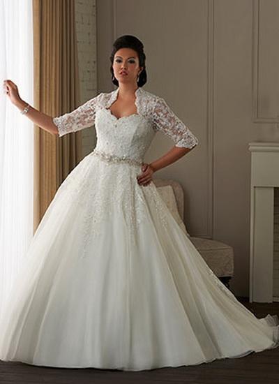 Свадебные платья для полненьких с