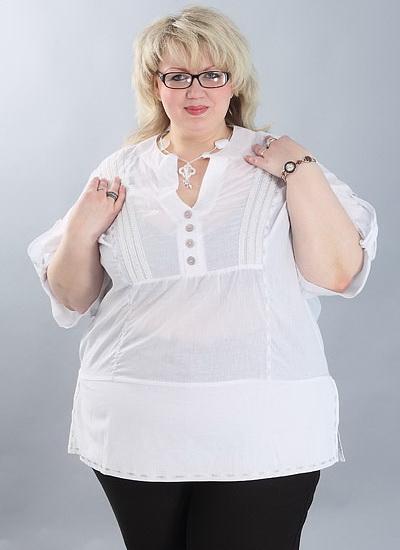 Белые Блузки Для Полных Женщин В Москве