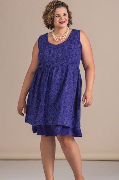 Платье для полных с животом