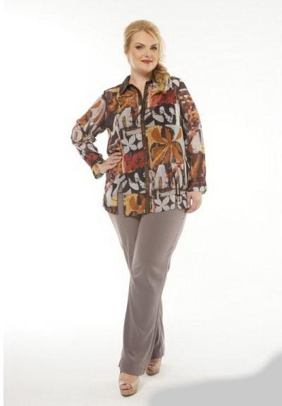 Блузки для полных дам