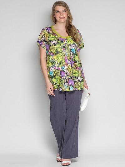 Шифоновые блузки для полных женщин купить