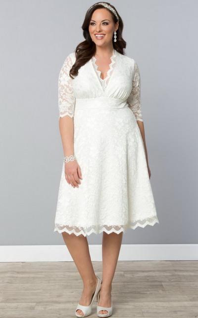 Белые платья на полных девушек