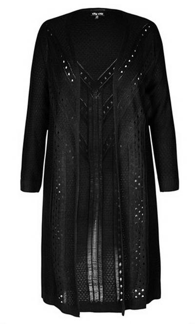 Вязаное пальто для полных женщин